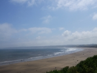View of Filey Beach from top of County Car Park
