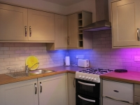 Modern kitchen with mood lighting